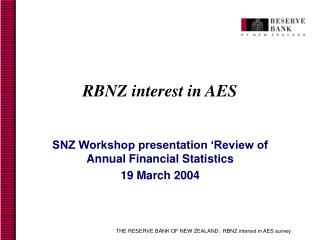 RBNZ interest in AES