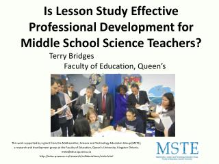 Is Lesson Study Effective Professional Development for Middle School Science Teachers?
