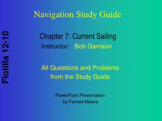 Chapter 7: Current Sailing