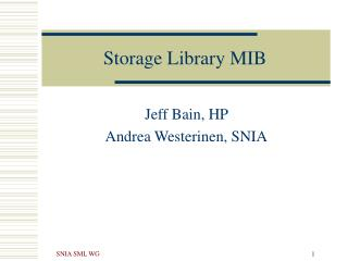 Storage Library MIB