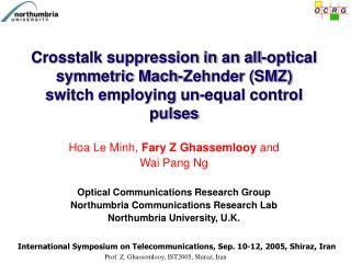 Hoa Le Minh,  Fary Z Ghassemlooy  and  Wai Pang Ng Optical Communications Research Group