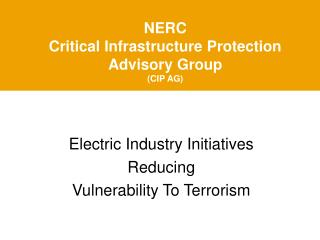 NERC  Critical Infrastructure Protection Advisory Group (CIP AG)