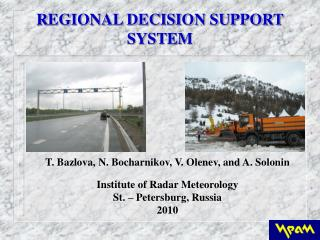 R EGIONAL DECISION SUPPORT SYSTEM