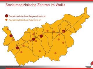 Sozialmedizinische Zentren im Wallis