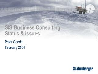 SIS Business Consulting Status & issues