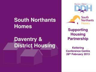 South Northants Homes Daventry & District Housing