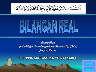 BILANGAN REAL