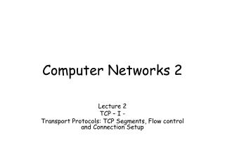 Computer Networks 2