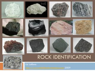 Rock identification