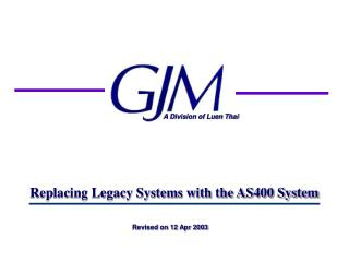 Replacing Legacy Systems with the AS400 System
