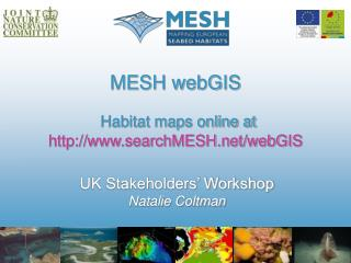 MESH webGIS Habitat maps online at searchMESH/webGIS