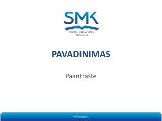 PAVADINIMAS