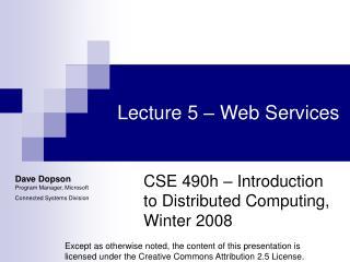 Lecture 5 � Web Services