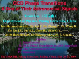 QCD Phase Transitions   & One of Their Astronomical Signals