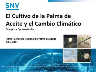 El Cultivo de la Palma de Aceite y el Cambio Climático