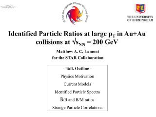 Identified Particle Ratios at large p T  in Au+Au collisions at  s NN  = 200 GeV