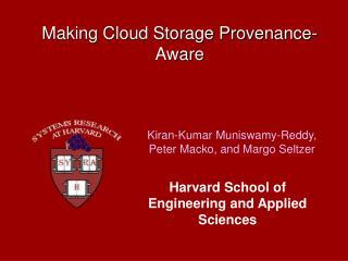 Making Cloud Storage Provenance-Aware
