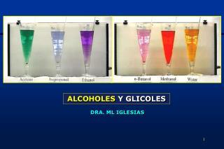 ALCOHOLES Y GLICOLES