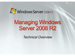 Managing Windows Server 2008 R2