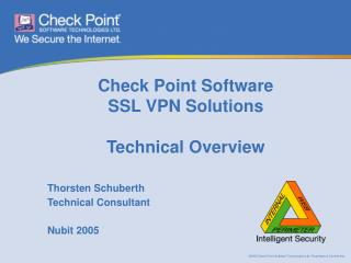 Check Point Software SSL VPN Solutions Technical Overview