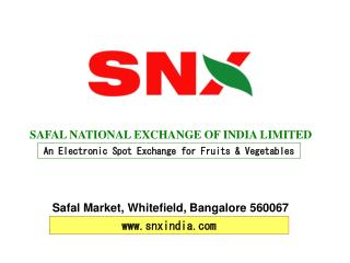 SAFAL NATIONAL EXCHANGE OF INDIA LIMITED