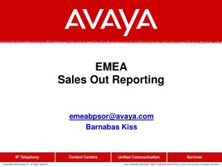 EMEA  Sales Out Reporting