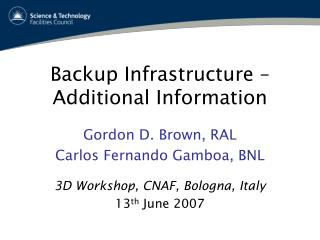 Backup Infrastructure – Additional Information