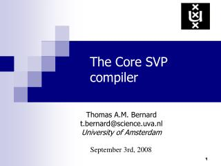 The Core SVP compiler