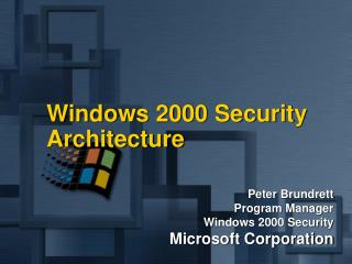 Windows 2000 Security Architecture
