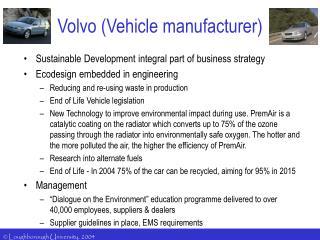 Volvo Vehicle manufacturer