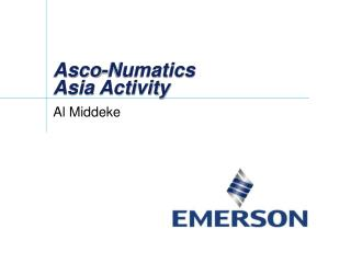 Asco-Numatics Asia Activity