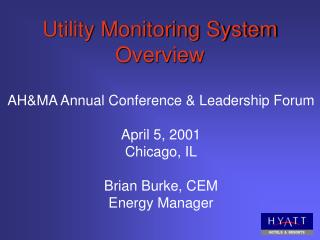 Utility Monitoring System Overview
