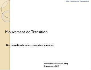 Mouvement de Transition