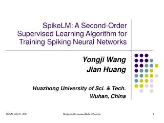 SpikeLM: A Second-Order Supervised Learning Algorithm for Training Spiking Neural Networks