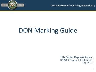 DON Marking Guide