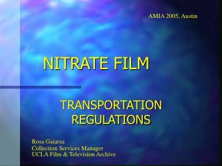 NITRATE FILM