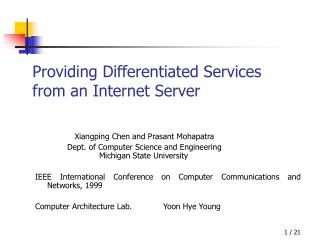 Providing Differentiated Services  from an Internet Server