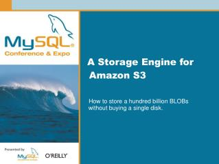 A Storage Engine for Amazon S3