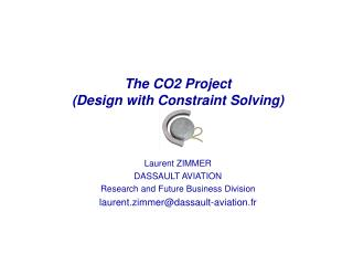 The CO2 Project (Design with Constraint Solving)