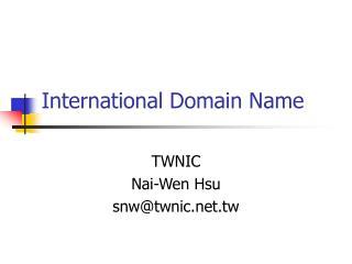International Domain Name