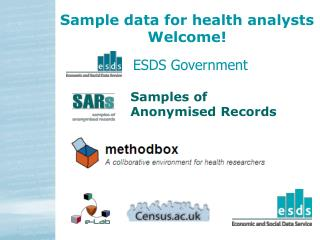 Sample data for health analysts Welcome!