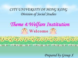 Theme 4:Welfare Institution