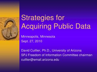Strategies for Acquiring Public Data