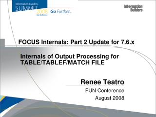 FOCUS Internals: Part 2 Update for 7.6.x