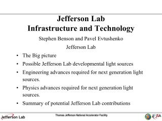 Jefferson Lab  Infrastructure and Technology