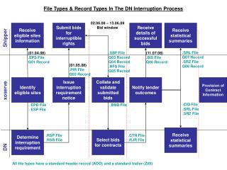 File Types & Record Types In The DN Interruption Process