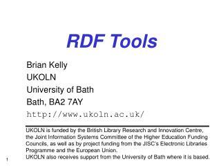 RDF Tools