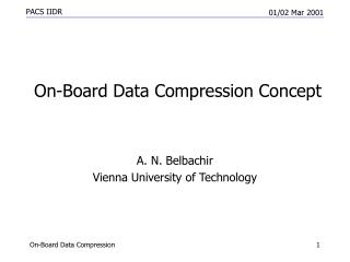 On-Board Data Compression Concept
