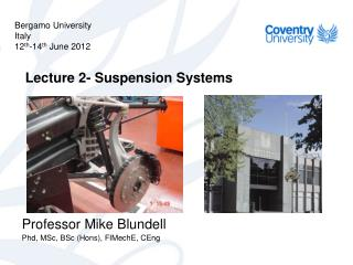 Lecture 2- Suspension Systems