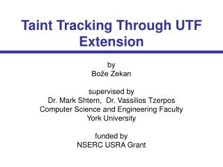 Taint Tracking Through UTF Extension